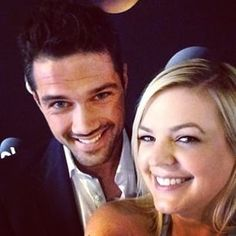 Instagram photo by generalhospitalabc - How adorable are these two?! Hanging out at the ABC #TCA14 with Ryan Paevey and Kirsten Storms! #GH