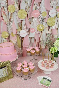 Love the background decor... I'm definitely doing this for my party; Glam Graduation Party Ideas - decor ideas