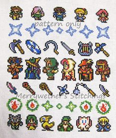 Final Fantasy Band Sampler Cross Stitch PATTERN by merrywether99