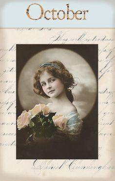 "Victorian ""Calender Girls"" ~ October"
