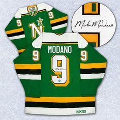 Mike Modano Minnesota North Stars Autographed Retro CCM Hockey ...