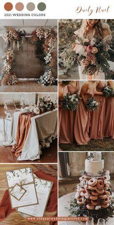Rustic chic Greenery Wedding Invitation Ideas for dusty rust and sage weddings