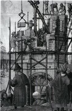 70- Construction de la Tour de Babel, Livre d'heures