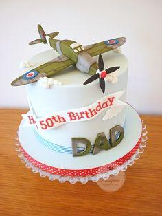 CAKE & DECOR 123 Spitfire birthday cake Dishwasher Belt – Don't Let It Slip You have an older dishwa Airplane Birthday Cakes, 70th Birthday Cake, 50th Cake, Dinosaur Birthday, Birthday Invitations, Birhday Cake, Planes Cake, Military Cake, Dad Cake