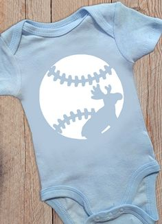 Baby Onesie Moustakas Moose KC Royals Baseball by ThePaperShelf