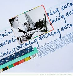 Evening Routine - by Alexa Gill. This layout used a Sketch template from the Simple Scrapper's Premium Membership