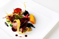A dish by Chef Raymond Blanc of Le Manoir aux Quat' Saisons in Oxford England
