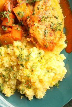 Tagine Chicken with Saffron Couscous