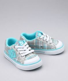 Take a look at this Gray & Ocean Plaid Sneaker by DC Shoes on #zulily today!