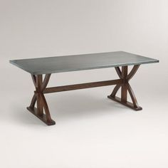 Linds-$300 check length.    One of my favorite discoveries at WorldMarket.com: Metal Wrapped Braxton Dining Table