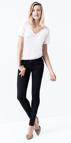 Elevated Essentials: Lola Jean and Classic Pocket V by StyleMint with Karla Slingbacks by ShoeMint