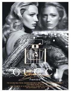 Gucci Premiere Fragrance Advertising Campaign featuring the one and only Blake L. - Gucci Premiere Fragrance Advertising Campaign featuring the one and only Blake Lively - Blake Lively, Gossip Girl, Fashion Advertising, Advertising Campaign, Advertising Space, Jessica Chastain, Hollywood Glamour, Hollywood Waves, Inspiring Photography