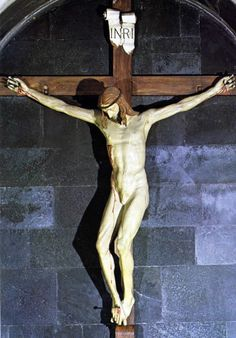 Crucifix sculpted by Brunelleschi in response to the challenge of Donatella: today is found in Santa Maria Novella Filippo Brunelleschi, Santa Maria Novella, Crucifix, Les Oeuvres, Renaissance, Sculpting, Statue, Painting, Challenge