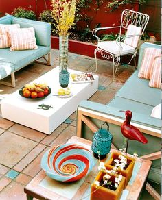 A colorful outdoor space