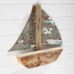 Driftwood Sailboat | Wall Hanging | Model Wooden Boat