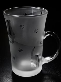 手つきグラス - 手つきグラス250 猫 - ガラス~サンドブラスト~貴方だけの一品を - ガラス工房 そよ風