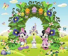 Springtime Mickey and Minnie