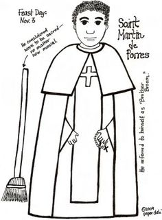 Paper Dali: Saint Martin de Porres / San Martin de Porres