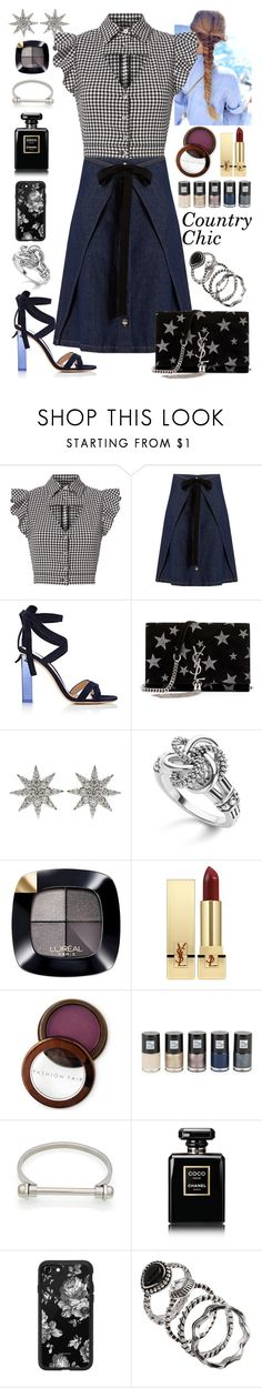 """""""Country Chic"""" by fabirm ❤ liked on Polyvore featuring Marissa Webb, MM6 Maison Margiela, Gianvito Rossi, Yves Saint Laurent, Bee Goddess, Lagos, L'Oréal Paris, Fashion Fair, Saks Fifth Avenue and Chanel"""