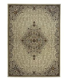 Another great find on #zulily! Ivory Fractal Wool Rug #zulilyfinds