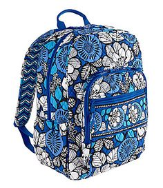 Vera Bradley, Save at Least an Extra off This Weekend! Vera Bradley Laptop Backpack, Laptop Bag, Vera Bradley Patterns, Blue Bayou, Animal Bag, Vera Bradley Purses, Rucksack Bag, Printed Bags, Purses And Bags