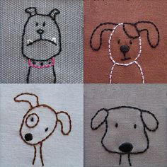 Embroidered Dogs  PDF pattern di ShinyHappyWorld su Etsy, $5.00
