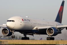 Aviation Photo Boeing - Delta Air Lines Boeing Aircraft, Passenger Aircraft, Boeing 777, Jet Airways, Airplane Photography, Air Lines, Commercial Aircraft, Aeroplanes, Airports