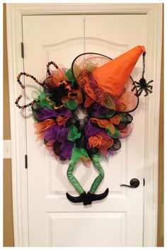 Deco Mesh Witch Wreath
