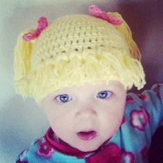 Cabbage Patch Piggy Tails Beanie.. @Alyssa Erickson Stubbs could you make one of these for my daughter??