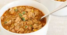 This white chicken chili recipe is a great one to add to your dinner rotation, especially during the soup season around here – fall and winter! I've tried a few different recipes, but I really like this one for a few reasons. For one, it is a pretty healthy recipe! And it still has a great chili flavor!