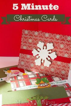 5 Minute Christmas Cards from Marty's Musings