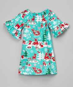 Lolly Gags Blue Critter Shift Dress - Infant, Toddler & Girls | Something special every day