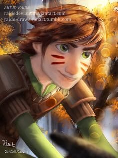 by raide-draws-fanart #Hiccstrid ^.^ ♡ < Hiccup. :)
