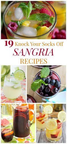 19 Knock Your Socks off Sangria Recipes - a bottle of red, a bottle of white, or maybe something sparkling, these cool and refreshing, fruity wine cocktails are perfect for a party any time of the year!