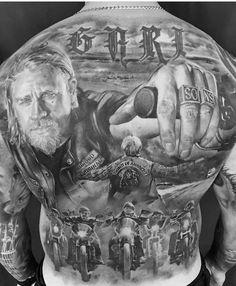 unique Tattoo Trends - Sons of anarchy Very cool Kunst Tattoos, 3d Tattoos, Skull Tattoos, Body Art Tattoos, Sleeve Tattoos, Ship Tattoos, Harley Tattoos, Biker Tattoos, Badass Tattoos