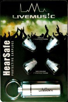 LiveMus!c HearSafe Earplugs