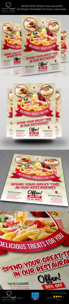 Restaurant Flyer A4 A4 Restaurants And Font Logo
