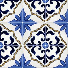 Mexican Talavera Frost Proof Tile 'Flores'