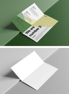 Open Trifold Brochure Mockup — Mr.Mockup | Graphic Design Freebies