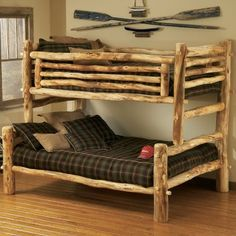Awesome log bunk beds!