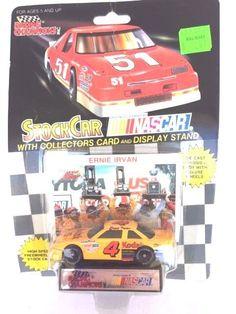 LIONEL NASCAR STOCK CAR RACING ERNIE IRVAN 4 CAR COLLECTORS CARD & DISPLAY STAND #LionelNASCAR #Ford $5.00#Nascar Stock Car#Racing Collectibles#Winston Cup Racing