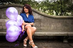 Long Island New York, Roslyn NY, Gerry Park, Modern Photographers, NYC Photography, Photo Professional, Photoshoot Session, Portrait Photography, Peridot Imagery, Birthday Photo Ideas, Purple Balloons, Navy Blue
