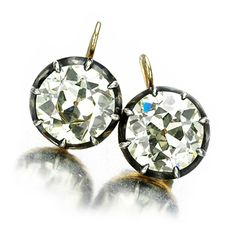 Oh my word... FD Gallery | A Pair of Antique Diamond Earrings, of 13.46 carats, 19th Century