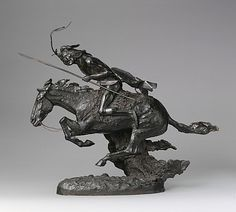 Frederic Remington, (American, 1861–1909). The Cheyenne. The Metropolitan Museum of Art, New York. Rogers Fund, 1907 (07.80) #horses