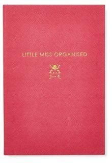 Miss Organised Journal, Pink -- Whether or not organization comes naturally, this lined journal will help you keep your thoughts together. Covered in lizard-embossed card and embossed in gold foil. A wonderful Christmas gift for your mom, best friend, or sister.