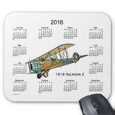 2016 Airplane Calendar by Janz Mouse Pad