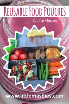 Delicious healthy lunch from       using Little Mashies squeeze container and luncbots. Healthy recipes from https://www.amazon.com/Little-Mashies/pages/12665873011  #babyfood #storage #kids #healthy #snacks FREE ebook from littlemashies.com/free