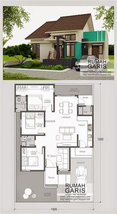 model design type house floor plan looks 90 in Makassar