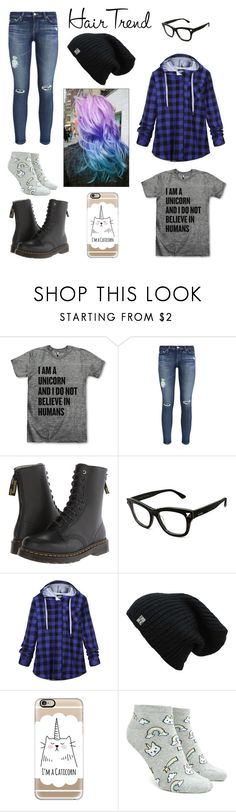 """""""I'm a unicorn and I don't believe in people"""" by open-minds ❤ liked on Polyvore featuring AG Adriano Goldschmied, Y's by Yohji Yamamoto, Valentino, Casetify, Forever 21, hairtrend, unicorn, rainbowhair and unicornpride"""