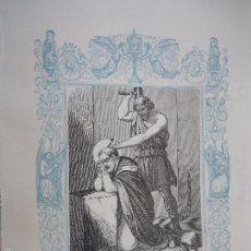 ref: kk - año 1861 original grabado de la epoca religioso - SAN SEVERO OBISPO Y MARTIR